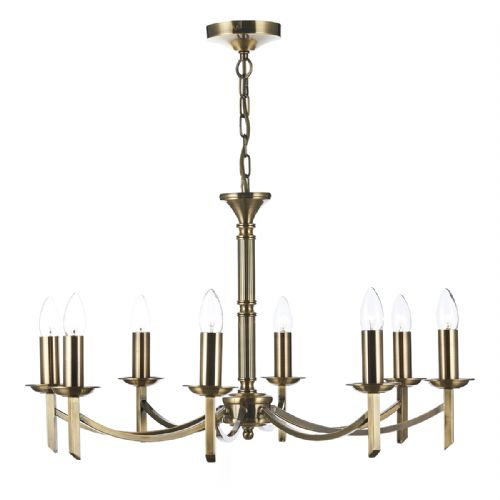 Ambassador 8 Light Dual Mount Pendant Antique Brass AMB0875